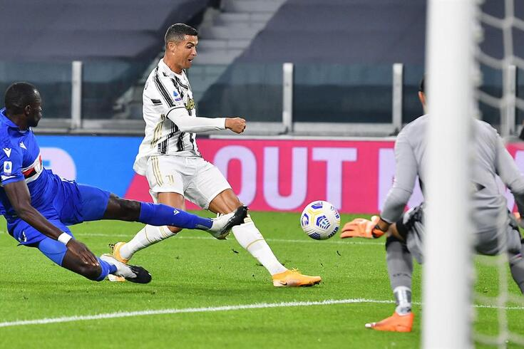 Ronaldo no Juventus-Sampdória