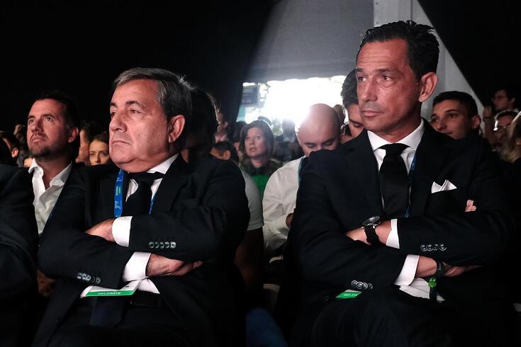 Fernando Gomes, presidente da FPF, e Pedro Proença, presidente da Liga