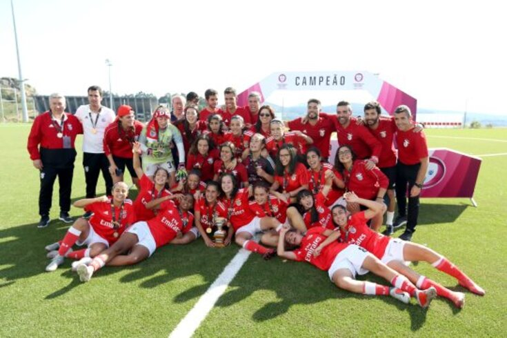 O Benfica sagrou-se campeão nacional de juniores femininos