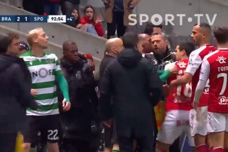 Grande confusão em Braga: Mathieu é expulso, seguiram-se dois suplentes