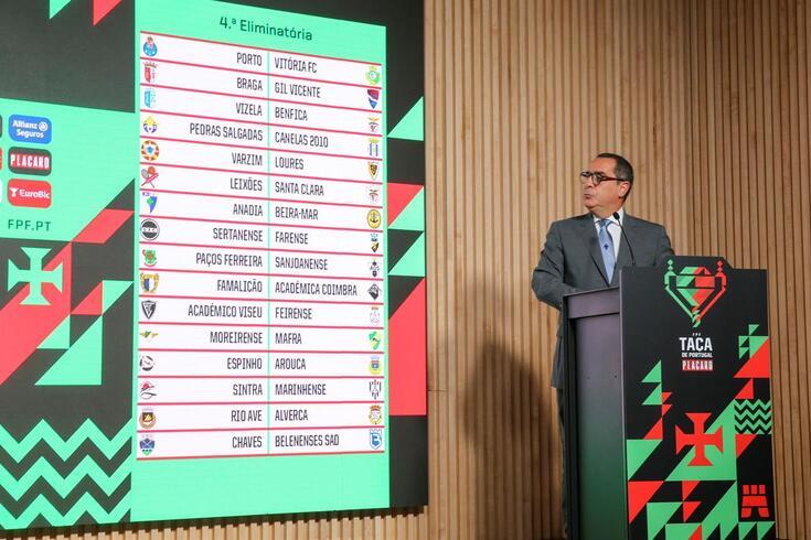 Os 16 jogos que compõem a quarta eliminatória da Taça de Portugal