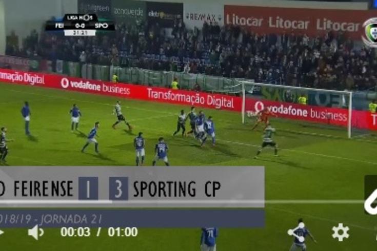 O Feirense-Sporting resumido em 60 segundos