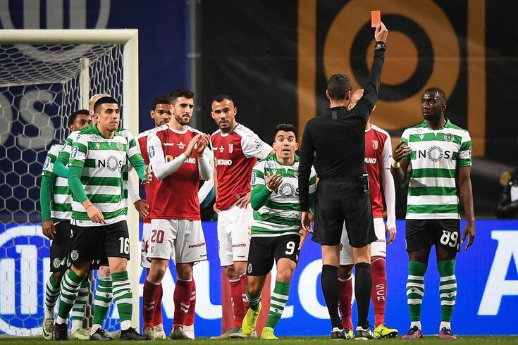 Bolasie foi expulso aos 61 minutos do Braga-Sporting