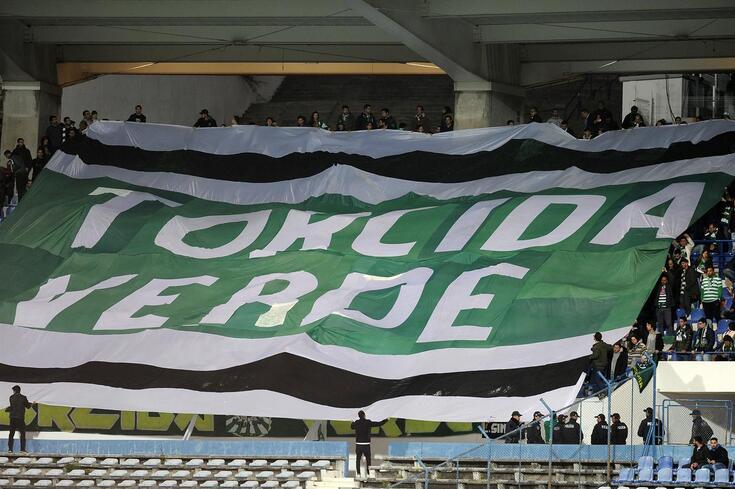 Torcida Verde deixou críticas à retoma do campeonato