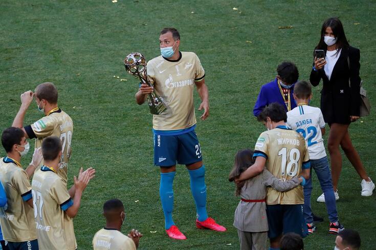 Zenit também vencera o campeonato da Rússia