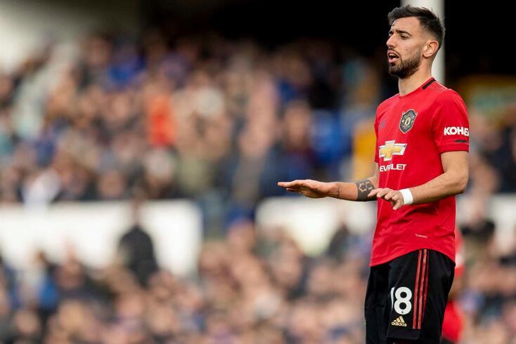 Bruno Fernandes, médio português do Manchester United