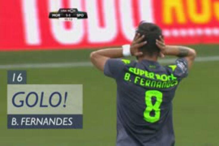 Moreirense-Sporting: o golo e o curioso festejo de Bruno Fernandes