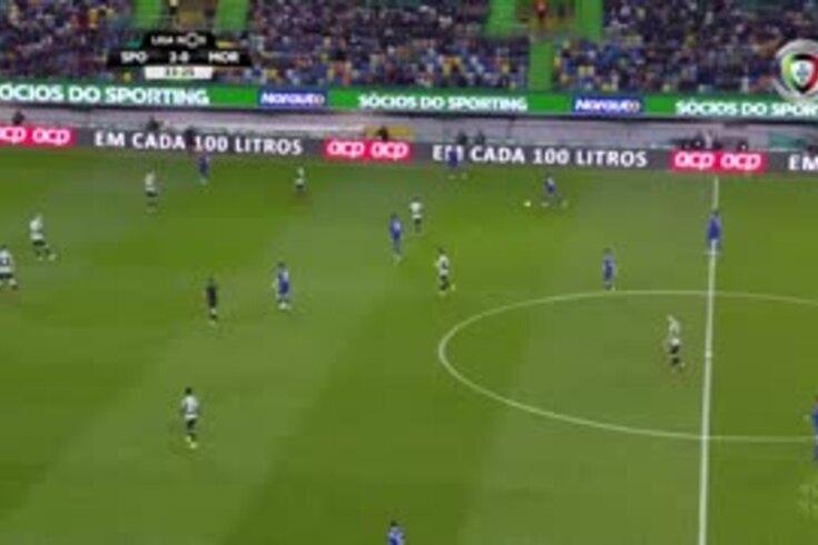 Bas Dost pede pénalti antes de Heriberto reduzir no Sporting-Moreirense