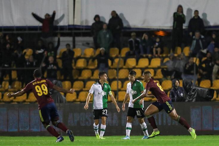 Luan marcou o segundo golo do Alverca frente ao Sporting