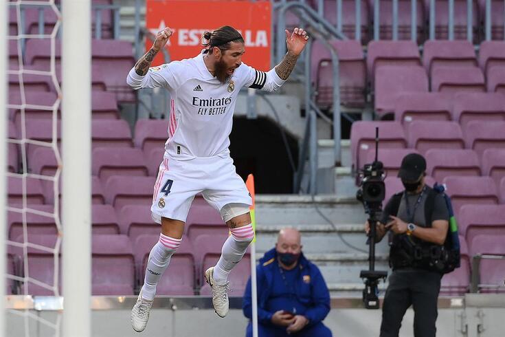 Sergio Ramos marcou o segundo golo da vitória merengue
