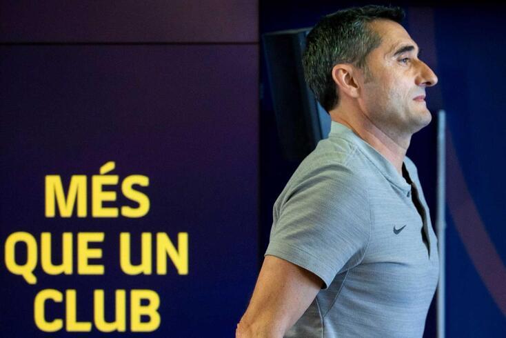 Ernesto Valverde, treinador do Barcelona