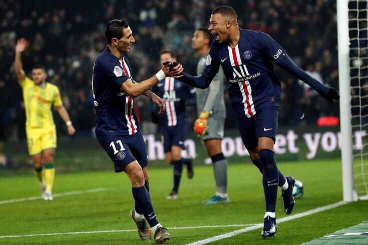 Mbappé marcou um golaço no PSG-Nantes.
