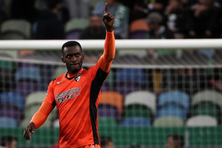 Jackson após o golo marcado ao Sporting, a 9 de fevereiro de 2020