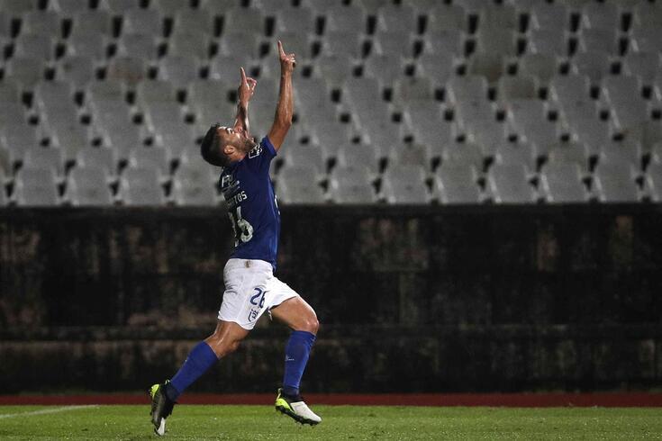 André Santos marcou o golo do Belenenses frente ao FC Porto