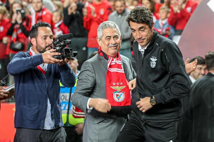 Luís Filipe Vieira e Bruno Lage