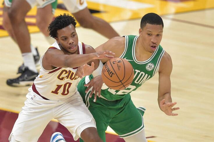Boston Celtics e Cleveland Cavaliers em ação