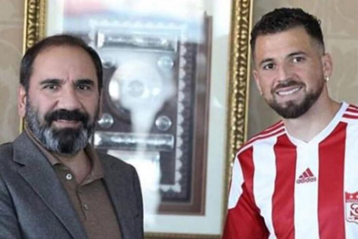 Claudemir com a camisola do Sivasspor