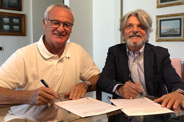 Claudio Ranieri, novo treinador da Sampdória