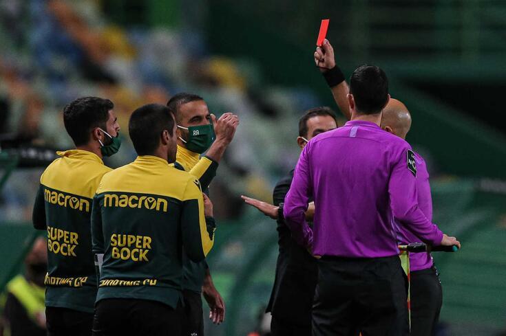 Rúben Amorim expulso no Sporting-FC Porto