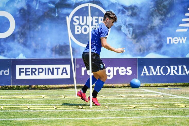 Vítor Ferreira durante um treino do FC Porto