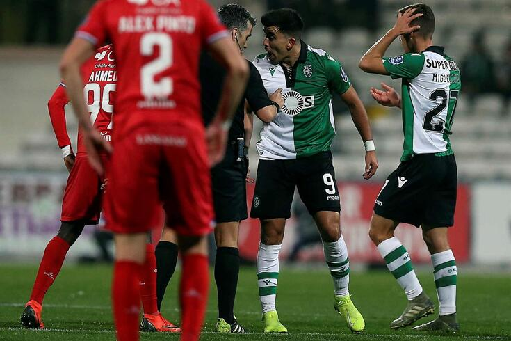 Aucã foi expulso nos minutos finais do Gil Vicente-Sporting.