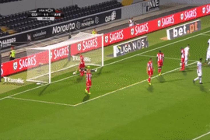 O golo de Tapsoba que devolveu a vantagem ao V. Guimarães frente ao Aves