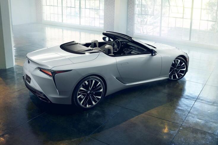 Lexus LC Descapotável Concept estreia-se na Europa