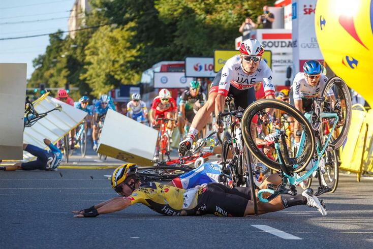 Fabio Jakobsen caiu na primeira etapa da Volta à Polónia