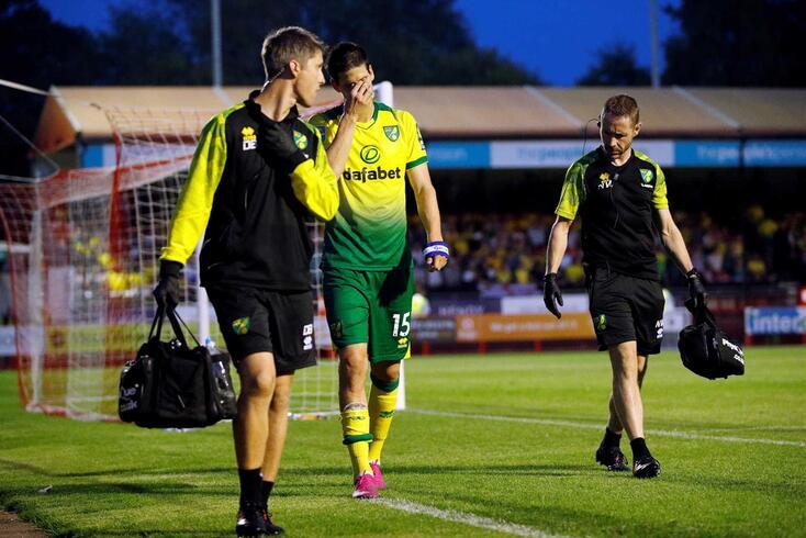Timm Klose é um dos lesionados no Norwich
