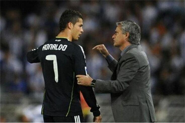 Cristiano Ronaldo e José Mourinho nos tempos de Real Madrid