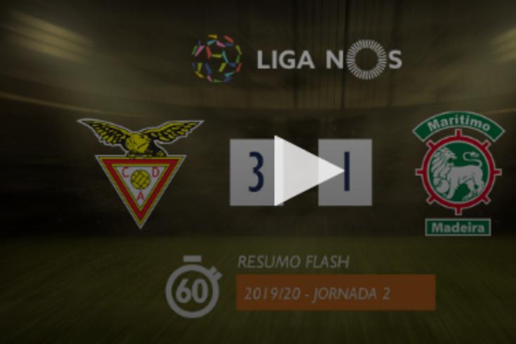 A vitória do Aves sobre o Marítimo resumida em 60 segundos