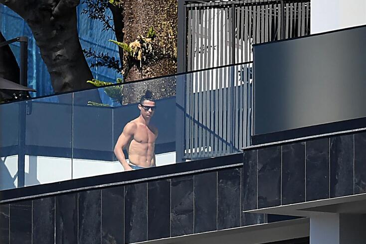 Cristiano Ronaldo está na Madeira com a família