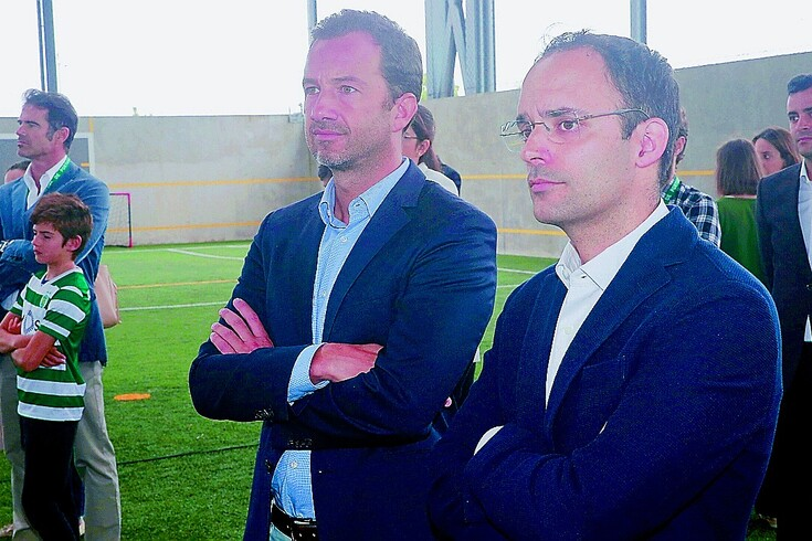 Miguel Cal ao lado de Frederico Varandas