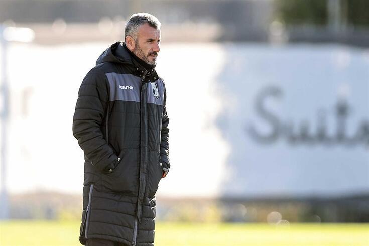 Ivo Vieira no treino desta manhã, o último antes do jogo, amanhã, com o FC Porto.