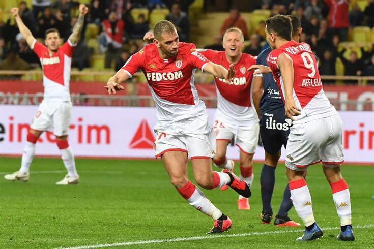 Islam Slimani deu os três pontos ao Mónaco