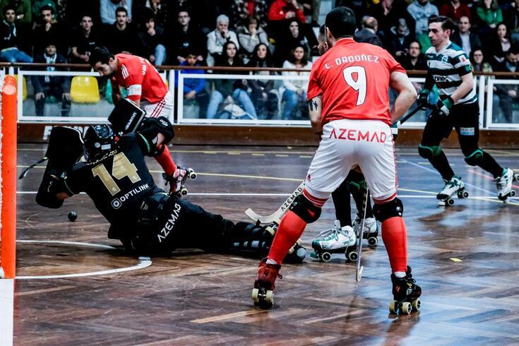 Sporting-Benfica em hóquei em patins.