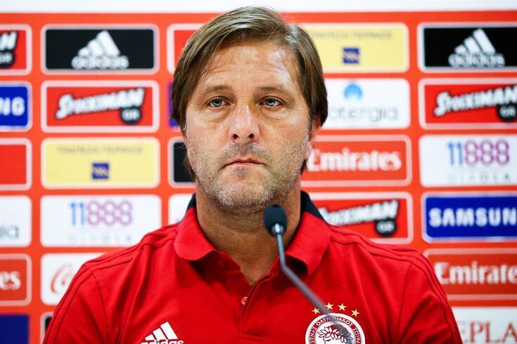 Pedro Martins treinador do Olympiacos