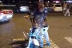 Esta mota não passou despercebida pelas ruas na festa do FC Porto