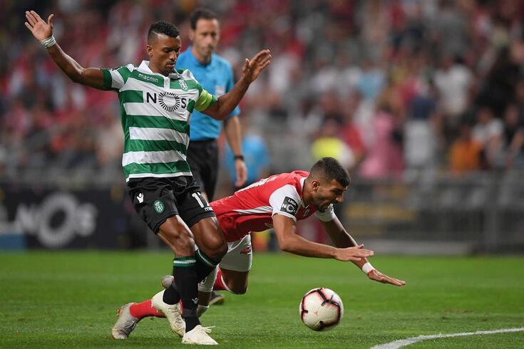 Nani foi substituído em Braga