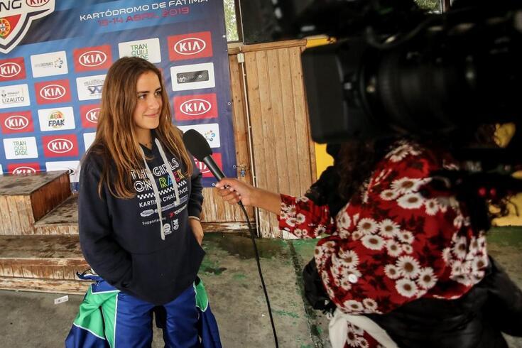 Matilde Fidalgo estreou-se no Karting com apoio da FPAK