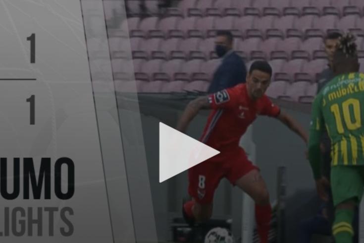 O empate do Gil Vicente-Tondela resumido em um minuto