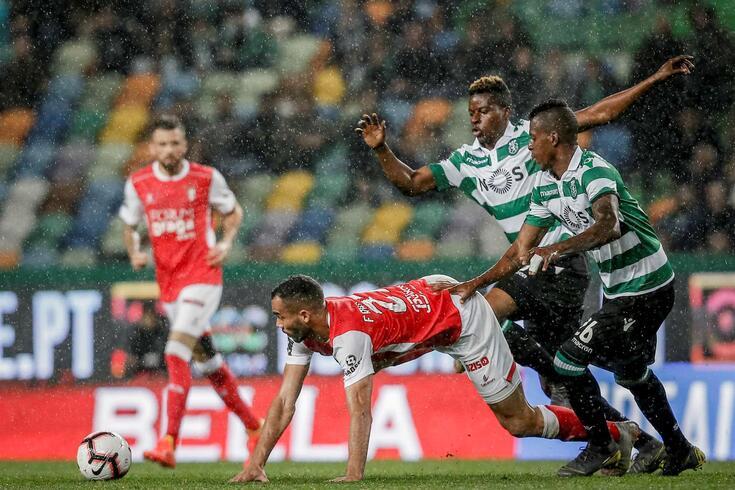 Doumbia e Borja (na imagem) não encaixam nos planos de Rúben Amorim