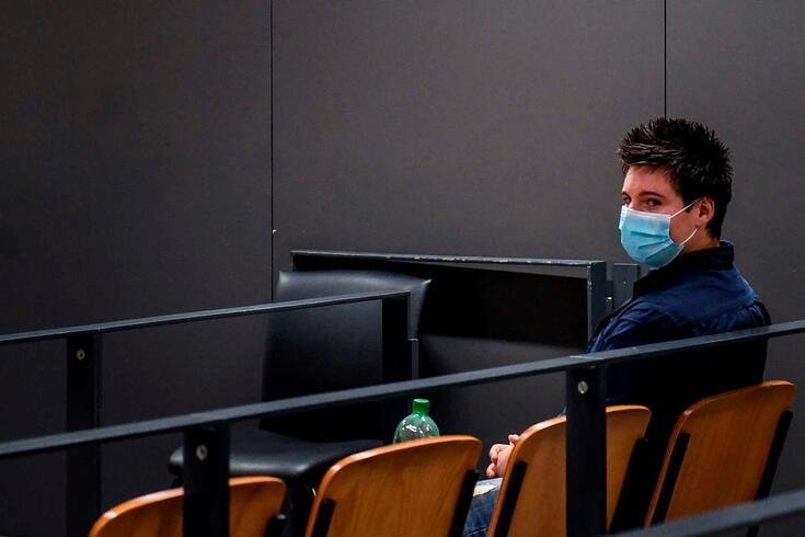 Rui Pinto na sala de audiências