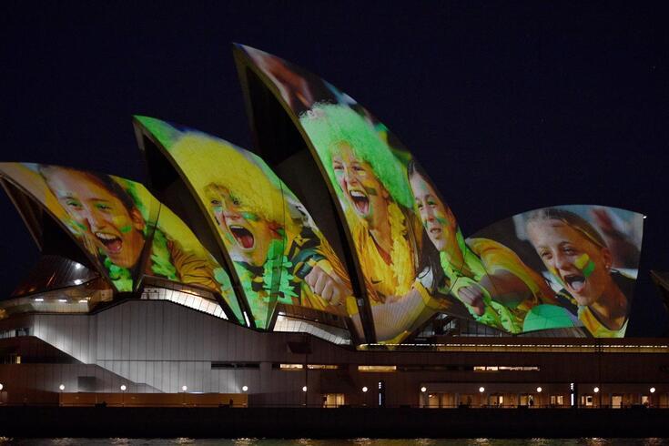 """A Opera House de Sydney foi """"vestida"""" a rigor para o anúncio"""