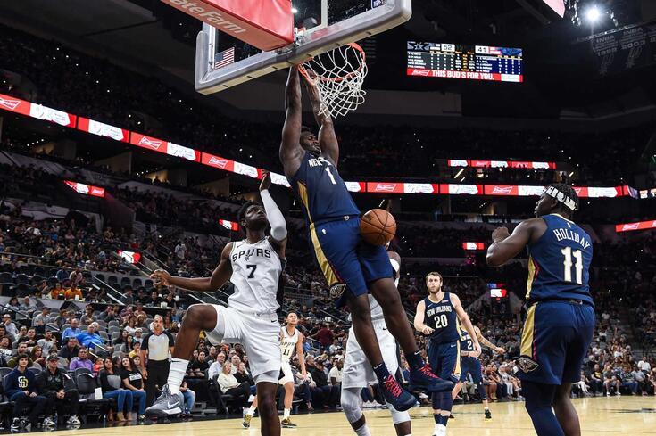 Foi neste jogo de pré-temporada, contra os Spurs, dia 14, que Zion se lesionou