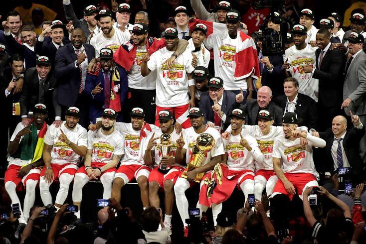 Os Toronto Raptors são os campeões em título na NBA