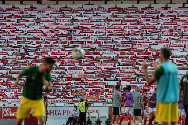 Lisboa, 04/06/2020 - O Sport Lisboa e Benfica recebeu esta tarde no Estádio da Luz em Lisboa, o CD.Tondela