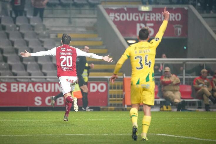 Braga virou o resultado contra o Tondela