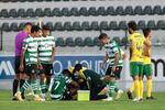 Jovane saiu lesionado do jogo de Paços de Ferreira