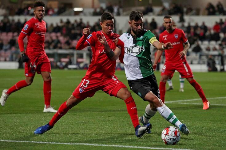 Bruno Fernandes marcou o primeiro golo do Sporting em Barcelos